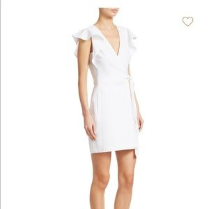 A.L.C. White Linen Sidelle Wrap Dress